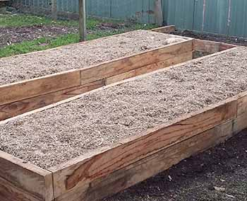 Hardwood sleeper vegetable garden